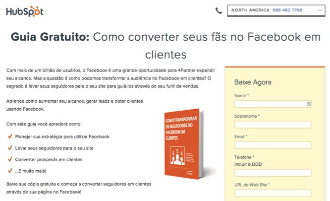 HubSpot Brasil Landing Page