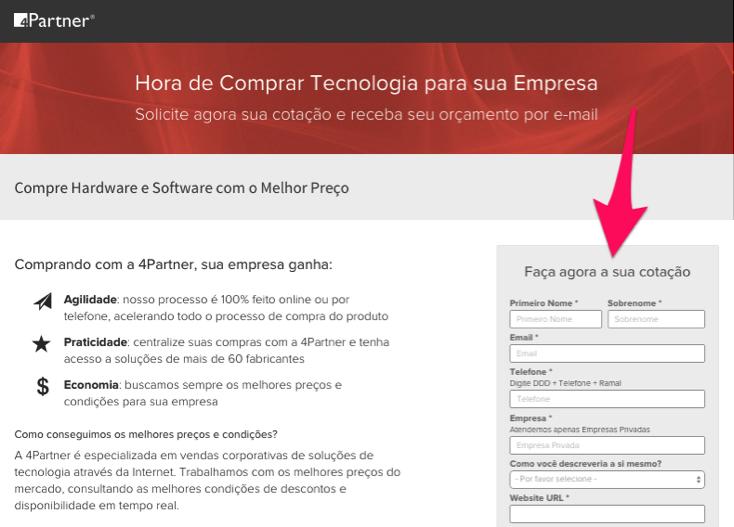 4Partner Landing Page