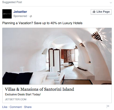 facebook ad retargeting example