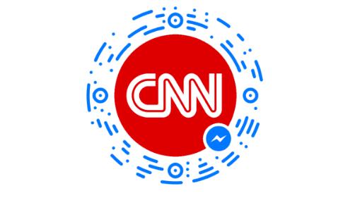 Botão de descoberta do bot do Facebook Messenger para a CNN