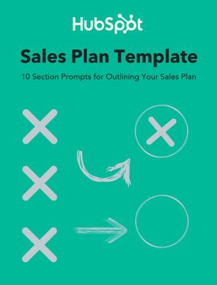 Modelo de plano de vendas da HubSpot
