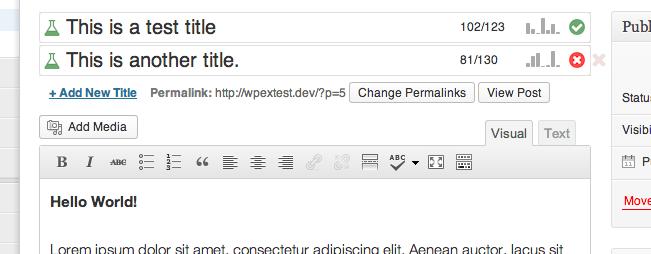 title experiments wordpress plugin