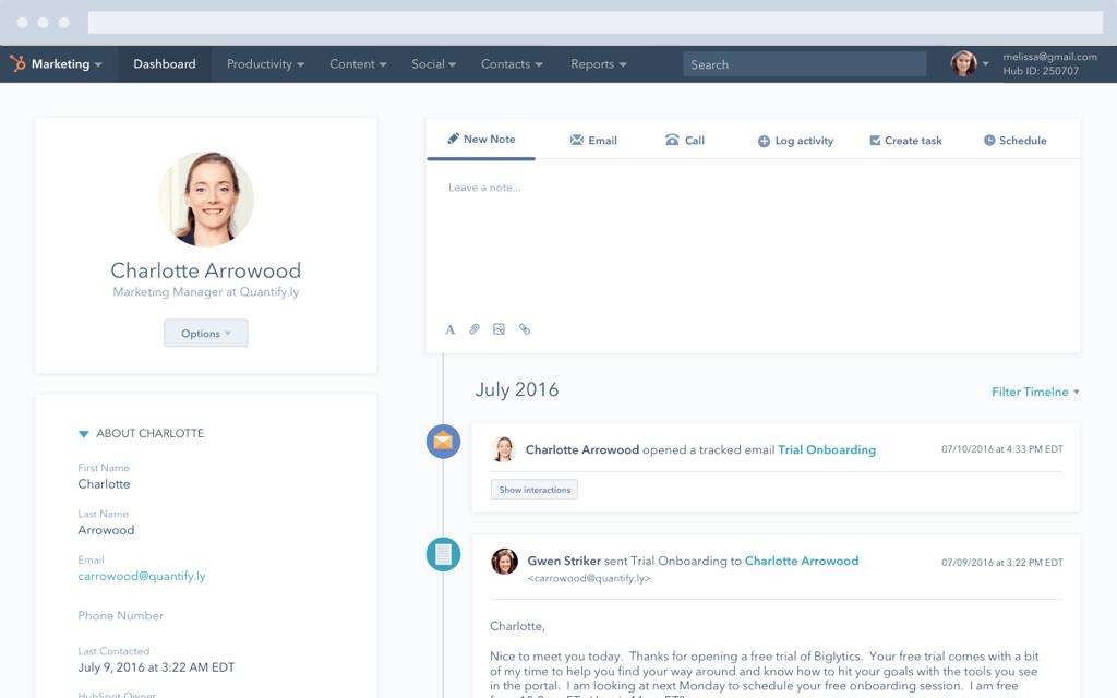 Aproveite o gerenciamento de leads na HubSpot.