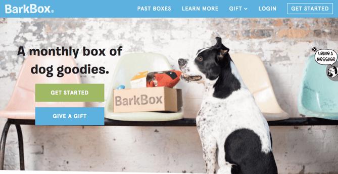 Botões da Barkbox