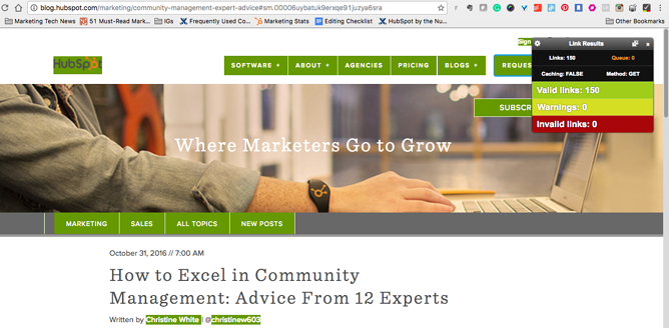 Extensão para Chrome Check My Links