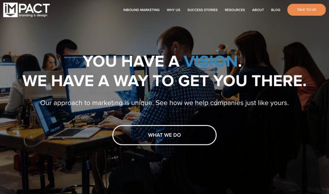 Exemplo da Impact Branding & Design