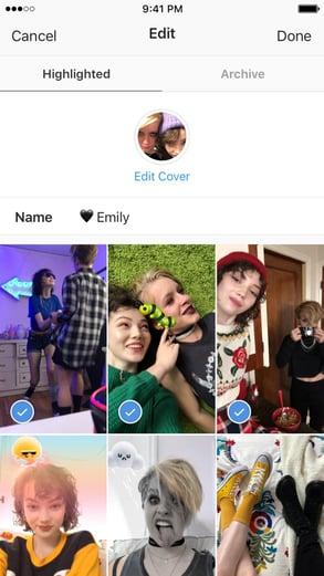 Destaques do Stories do Instagram estão destacados nesta página de fotos antigas