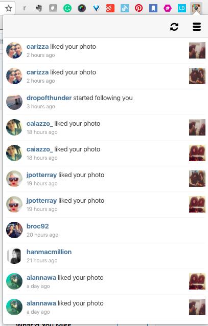 instagram chrome