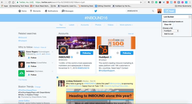 Extensão para Chrome List Builder for Twitter