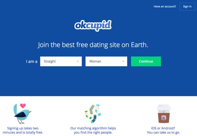 Exemplo do OKCupid