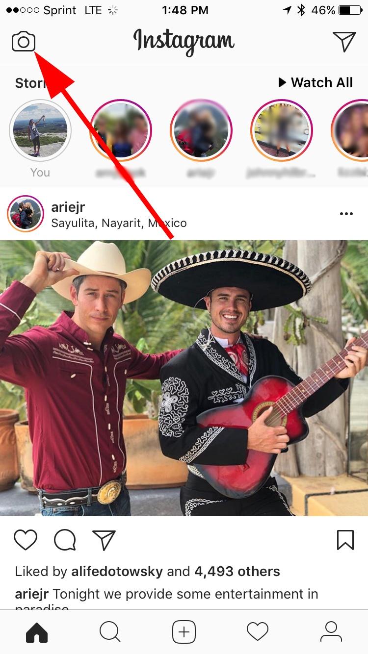abrir instagram stories