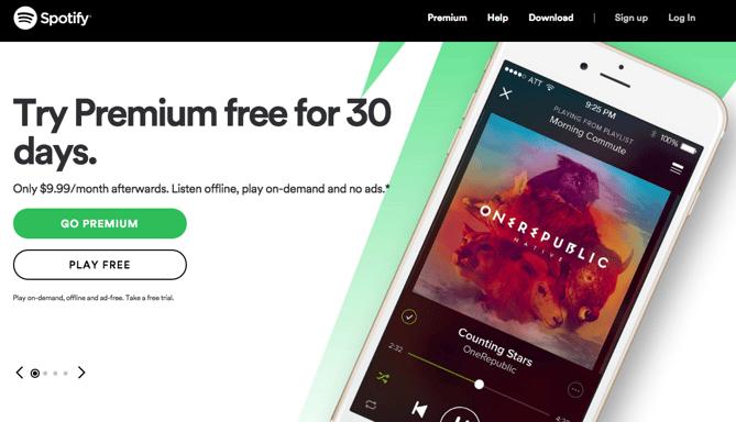 Botões do Spotify