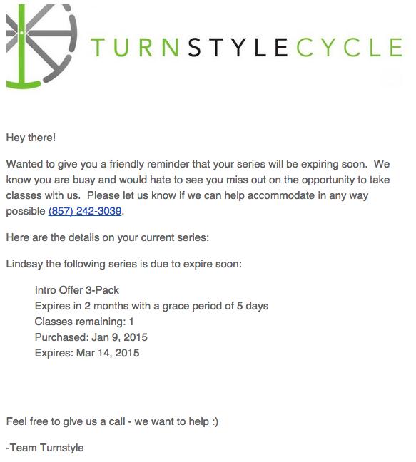 exemplo de texto de email turnstyle