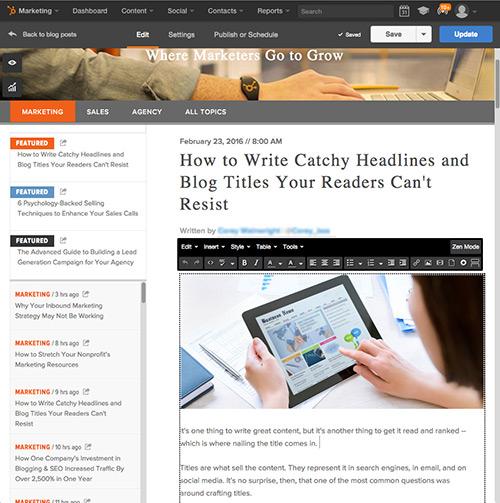 Software HubSpot Blogging