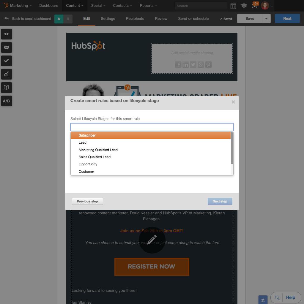 Personalize todos os e-mails com o HubSpot Smart Content