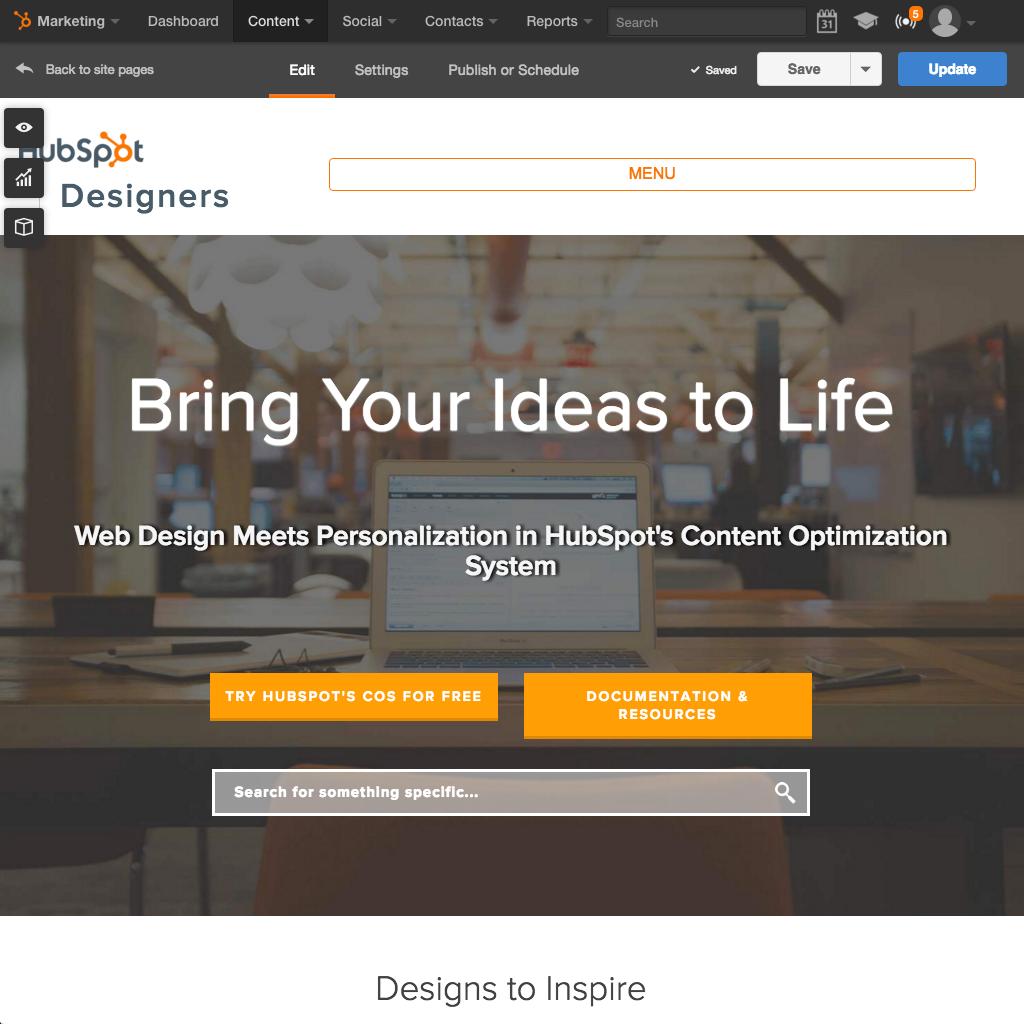 HubSpot Website Platform - Crie um site fácil de usar que funciona bem