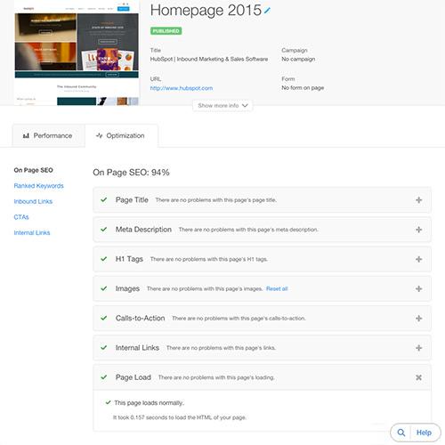 HubSpot Website Platform - Velocidade, segurança e tempo de atividade
