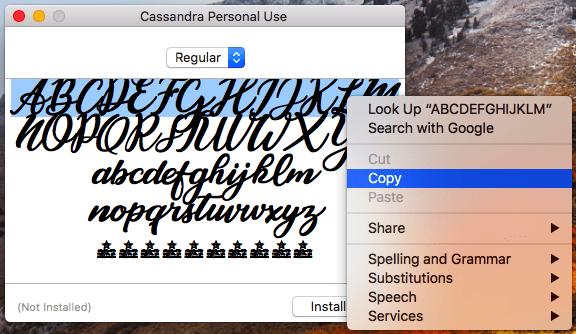 Truque para copiar a fonte Cassandra para a sua biografia do Instagram pelo computador.